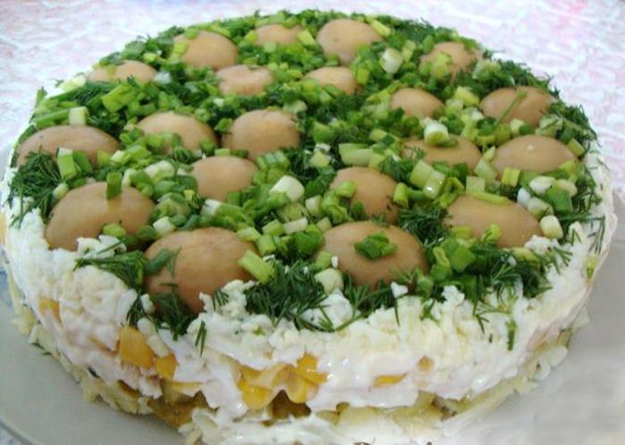 Салат лесная поляна рецепт классический