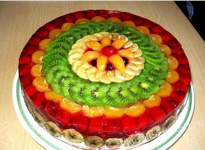 Торт из фруктов своими руками пошагово 602
