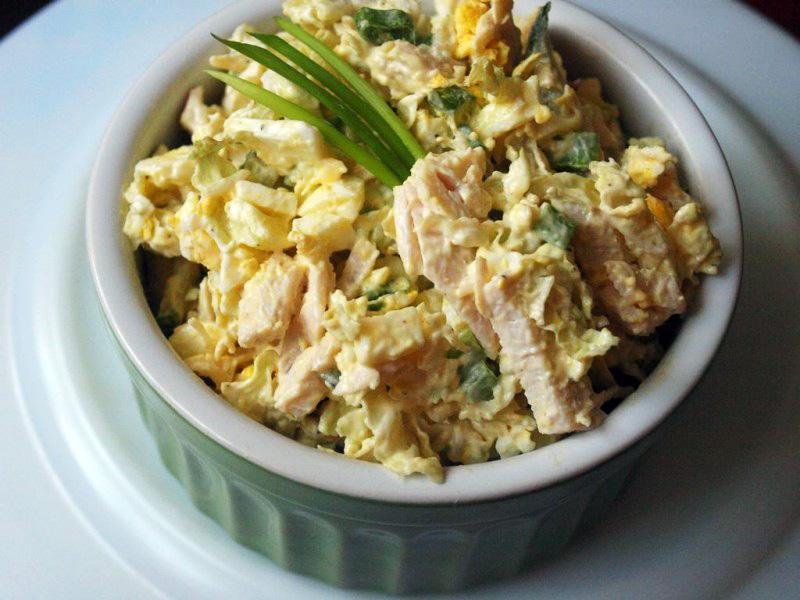 Салат из мяса курицы и капусты рецепты
